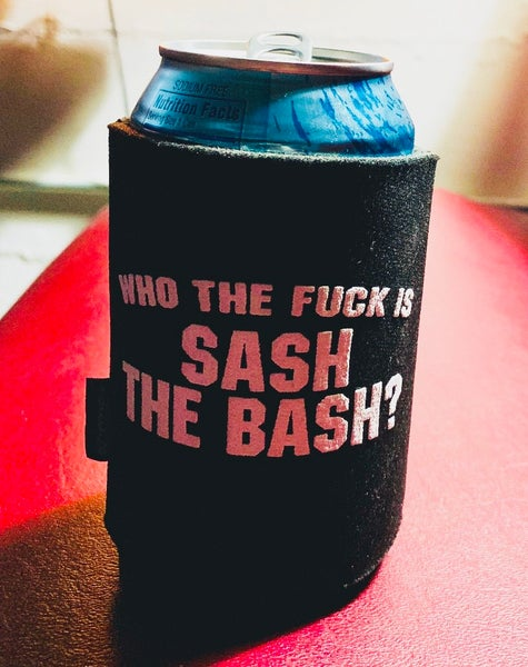 Image of Sash The Bash WTF Koozie