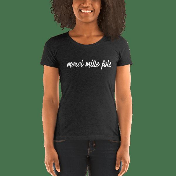 Image of Merci Mille Fois Ladies' Triblend Short Sleeve T-Shirt