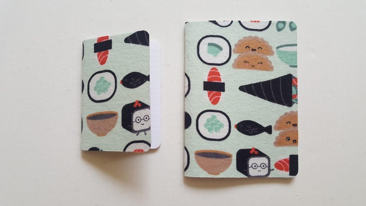Image of Kawaii sushi notebook (large)