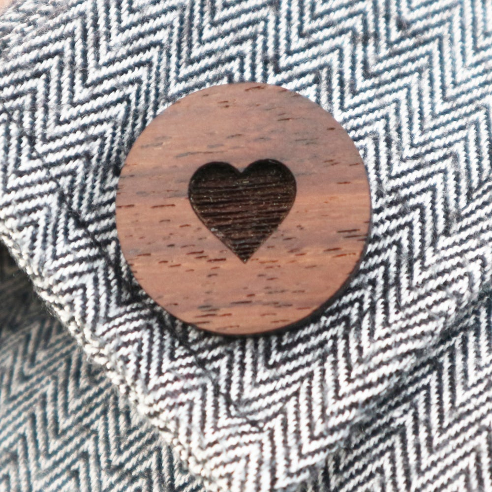 Image of Heart Button Brooch