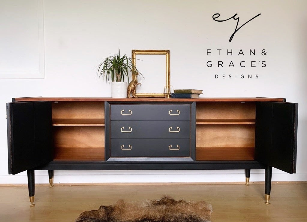 Image of Black G plan Tola sideboard with naked top