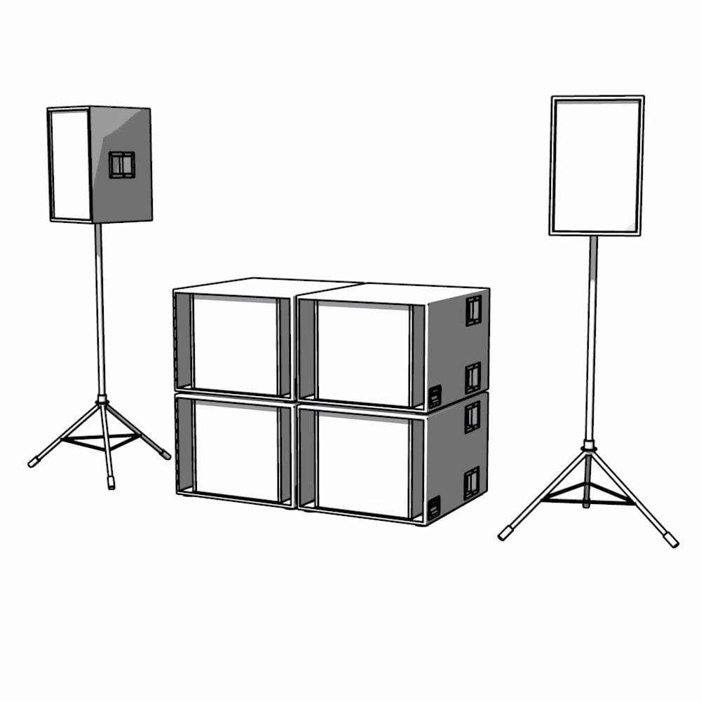Image of 2 x Espiella V2 + 4 x Unibass V2 = RCA 4