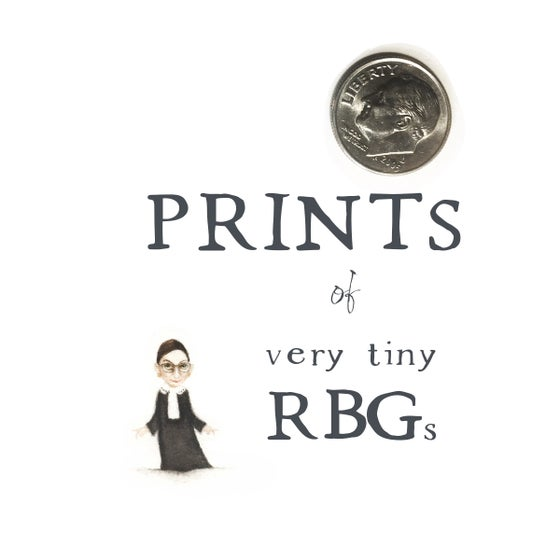 Image of Prints of Tiny RBGs - from watercolor originals