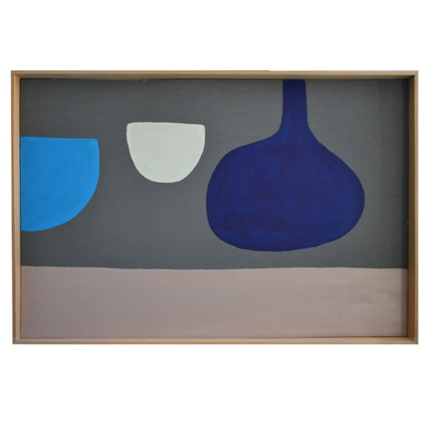 Image of Contemporary Painting, 'Blue Gourd,' Marc Taylor