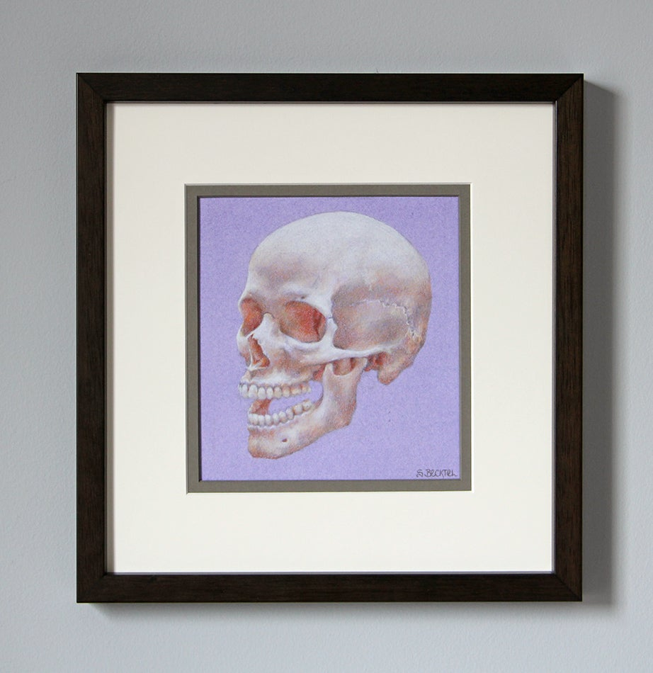 "Image of ""Laughing Skull"" Original Drawing"