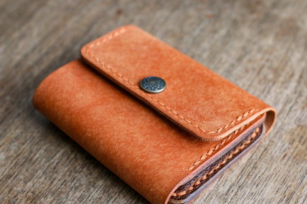 Image of Snap Wallet - Olmo Pueblo / Natural Waxed Flesh