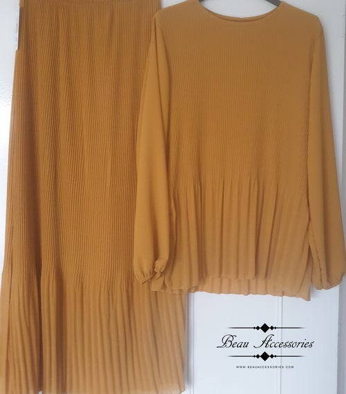 Image of Pleated Chiffon Co-Ord