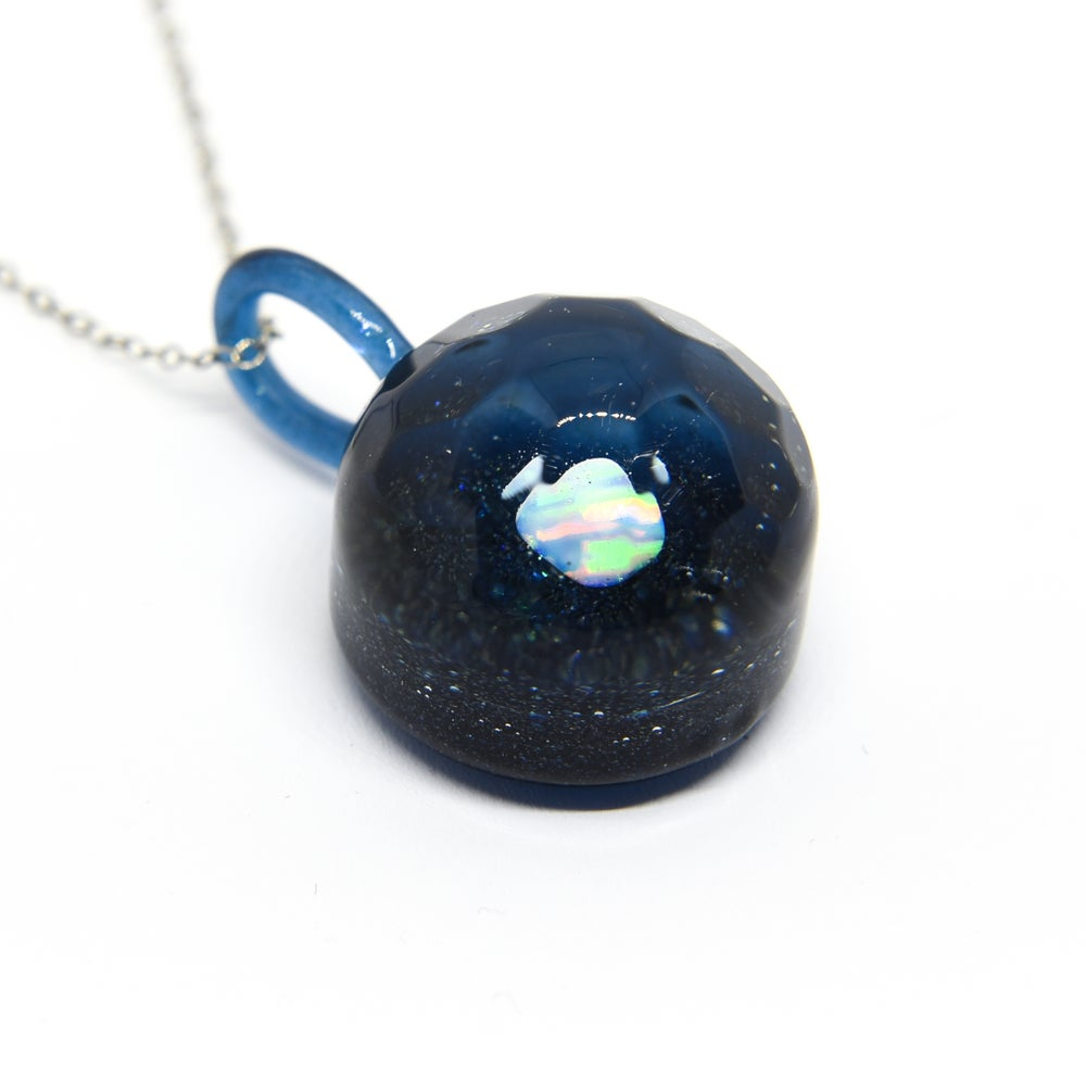 "Image of ""Light Reflections"" Opal & Heavy Blue Stardust Pendant"