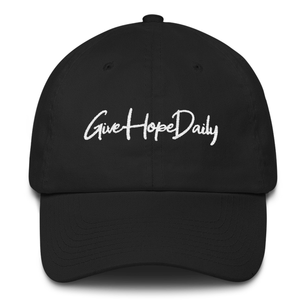 "Image of Give Hope Daily ""dad hat"" Black"