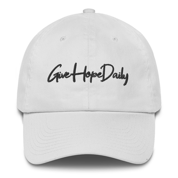 "Image of Give Hope Daily ""dad hat"" White"