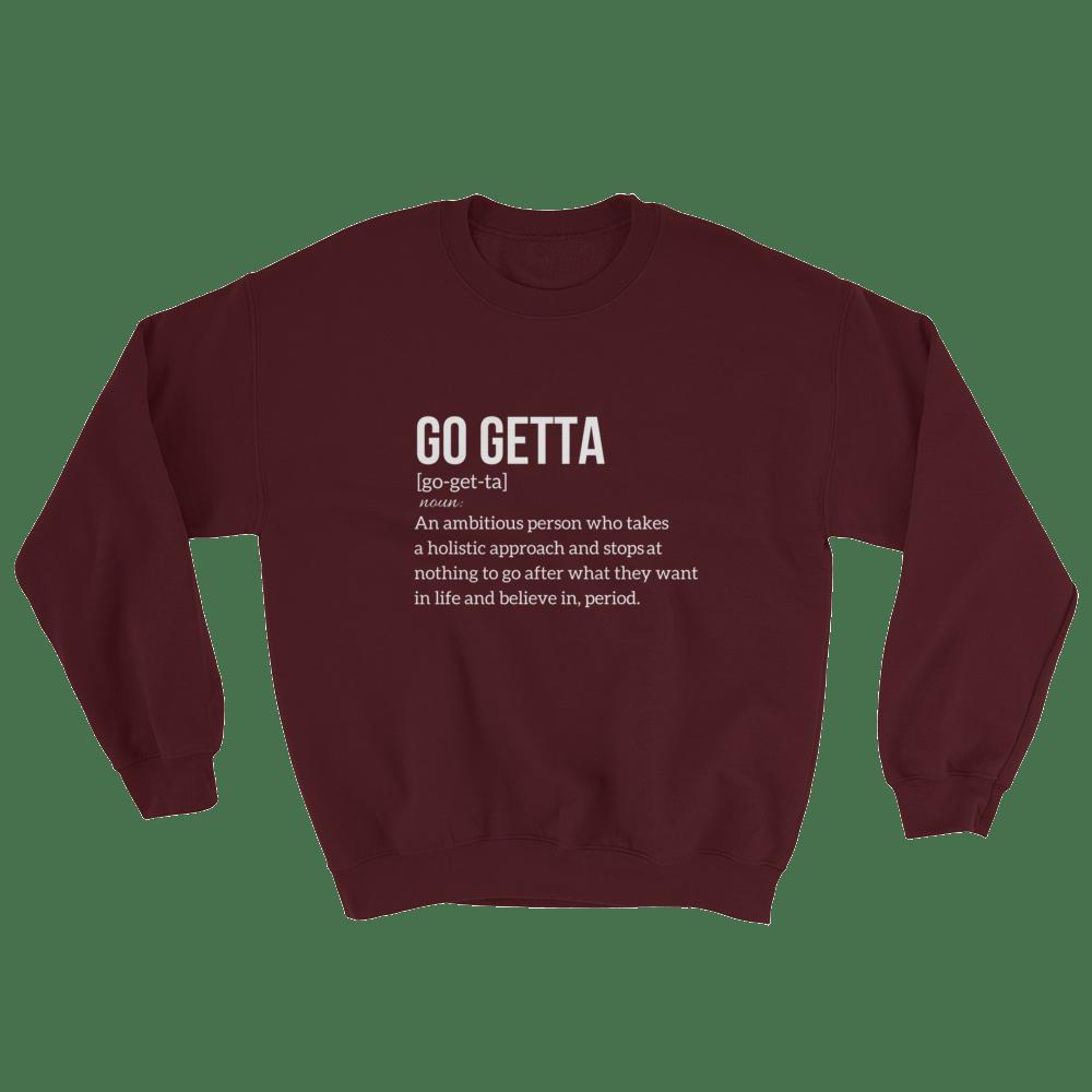 Image of Go Getta Definitio Unisex Sweatshirt Red/Marron