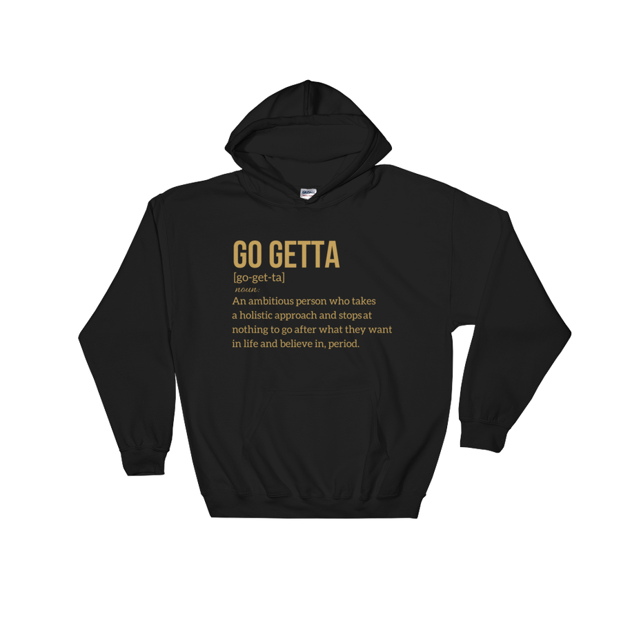 Image of Go Getta Definition Unisex Hoodie Black/White