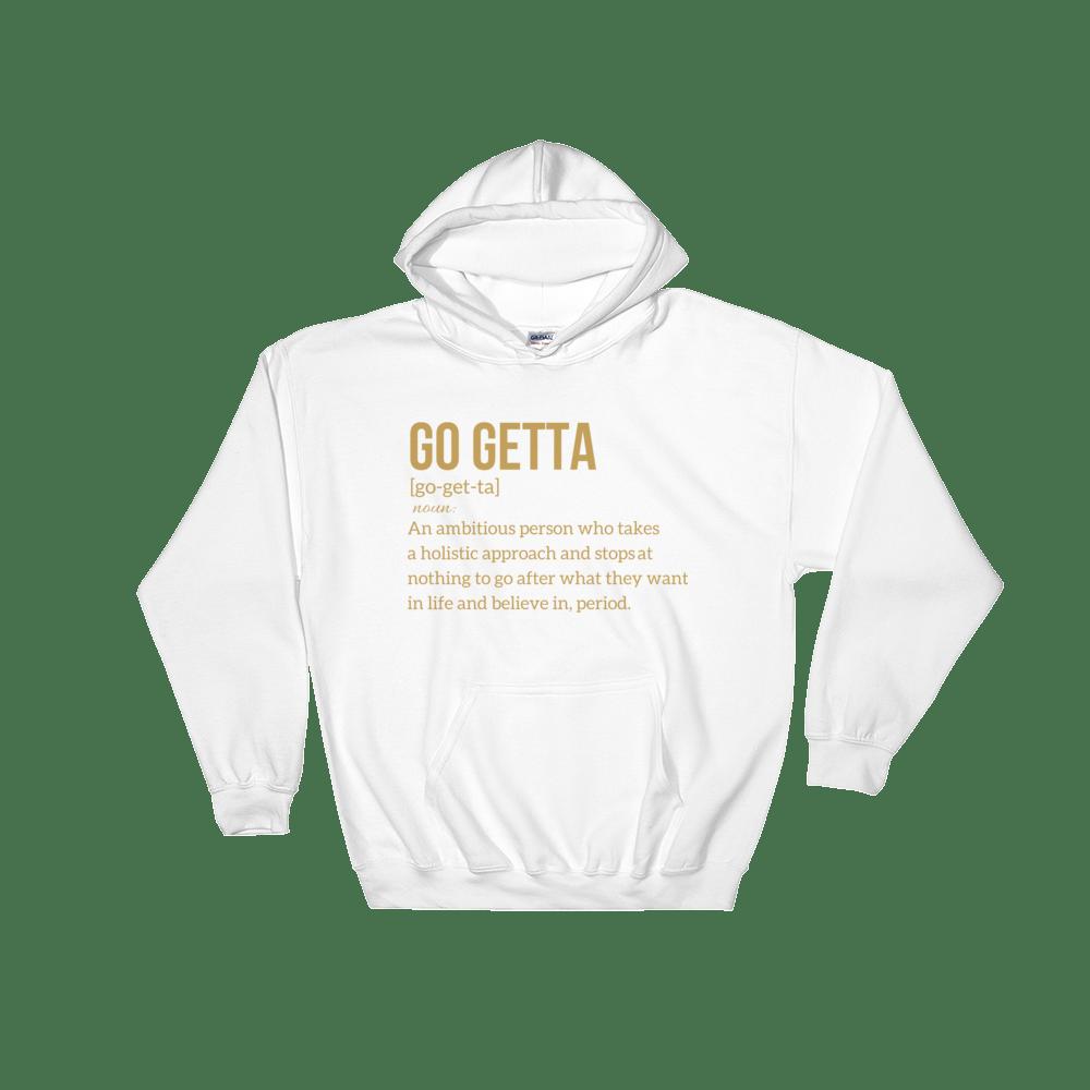 Image of Go Getta Definition Unisex Hoodie Black/White