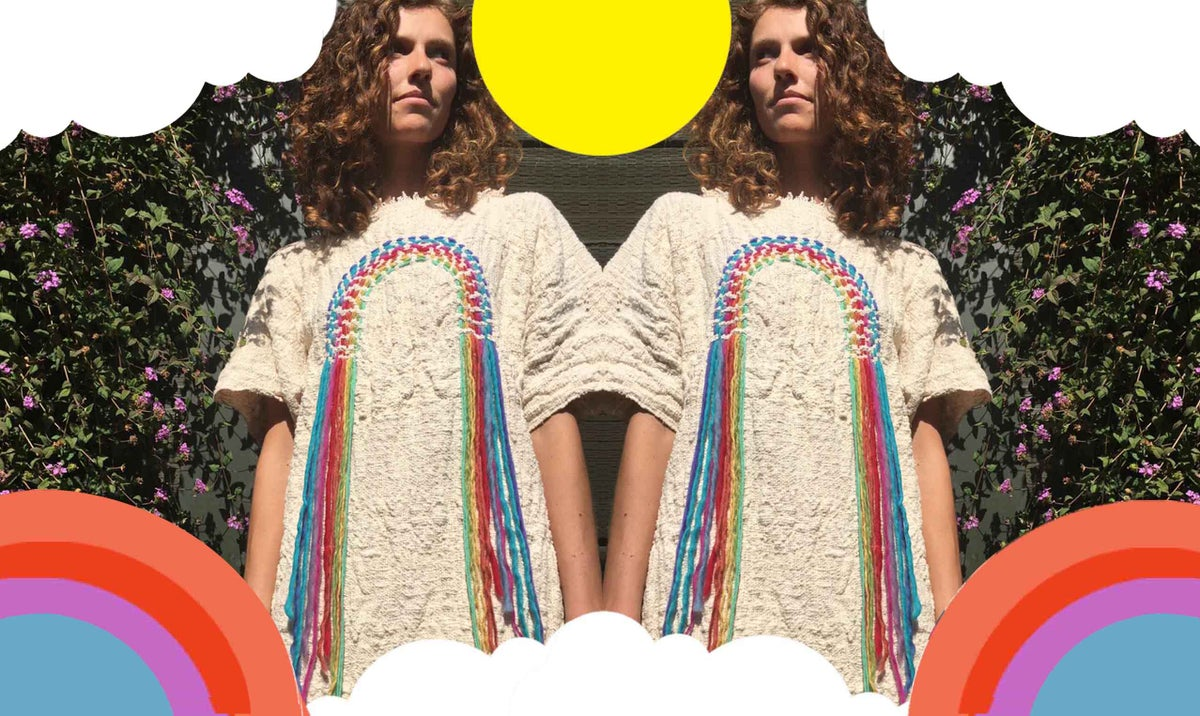 Image of Woven Rainbow cozy Tunic