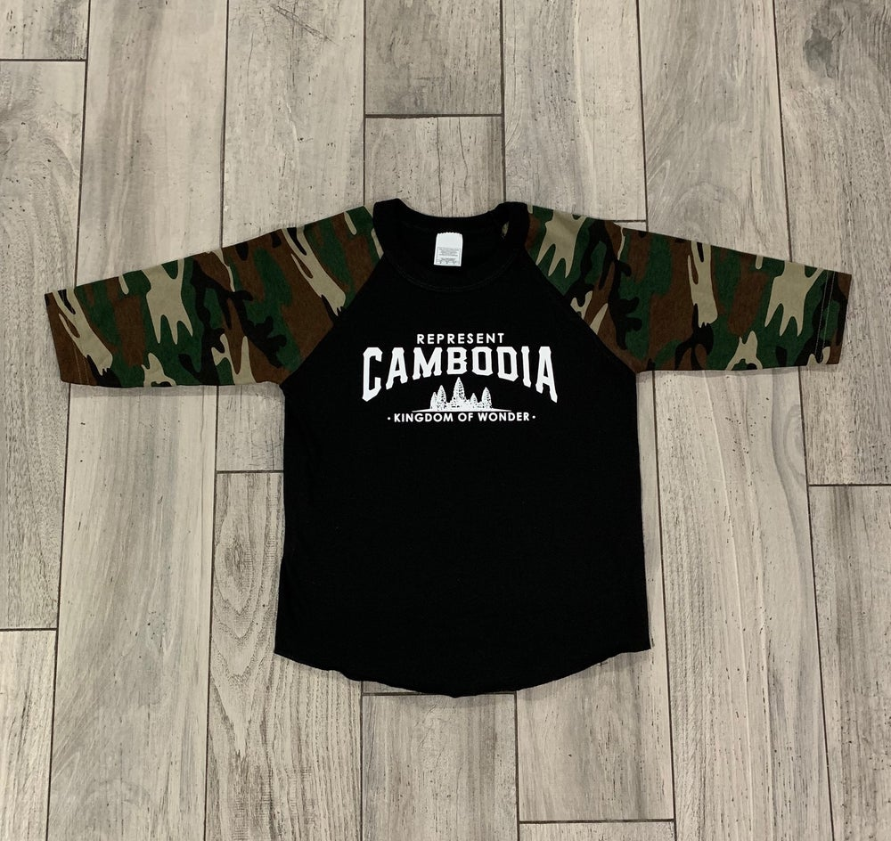 Image of Youth (kids) Camo/Black Kingdom of Wonder Baseball Tee