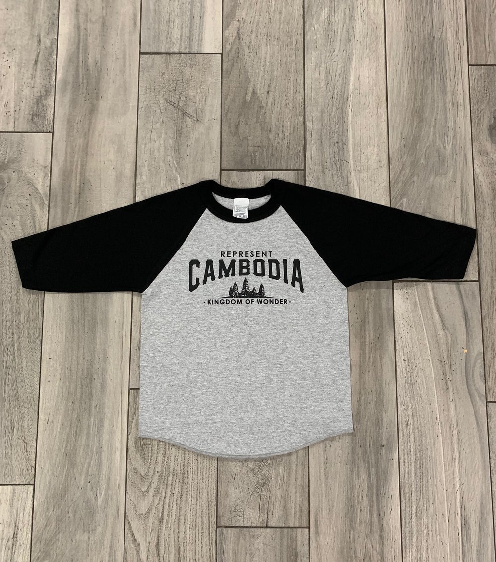 Image of Youth (kids) Black/Grey Kingdom of Wonder Baseball Tee