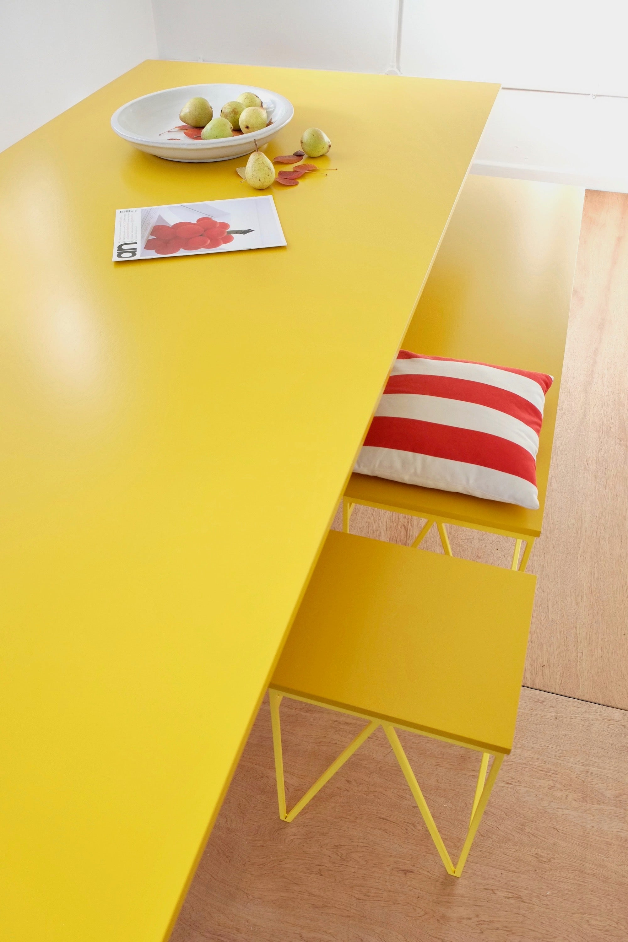 Colour Play Dining Table In Yellow New Modern British Furniture