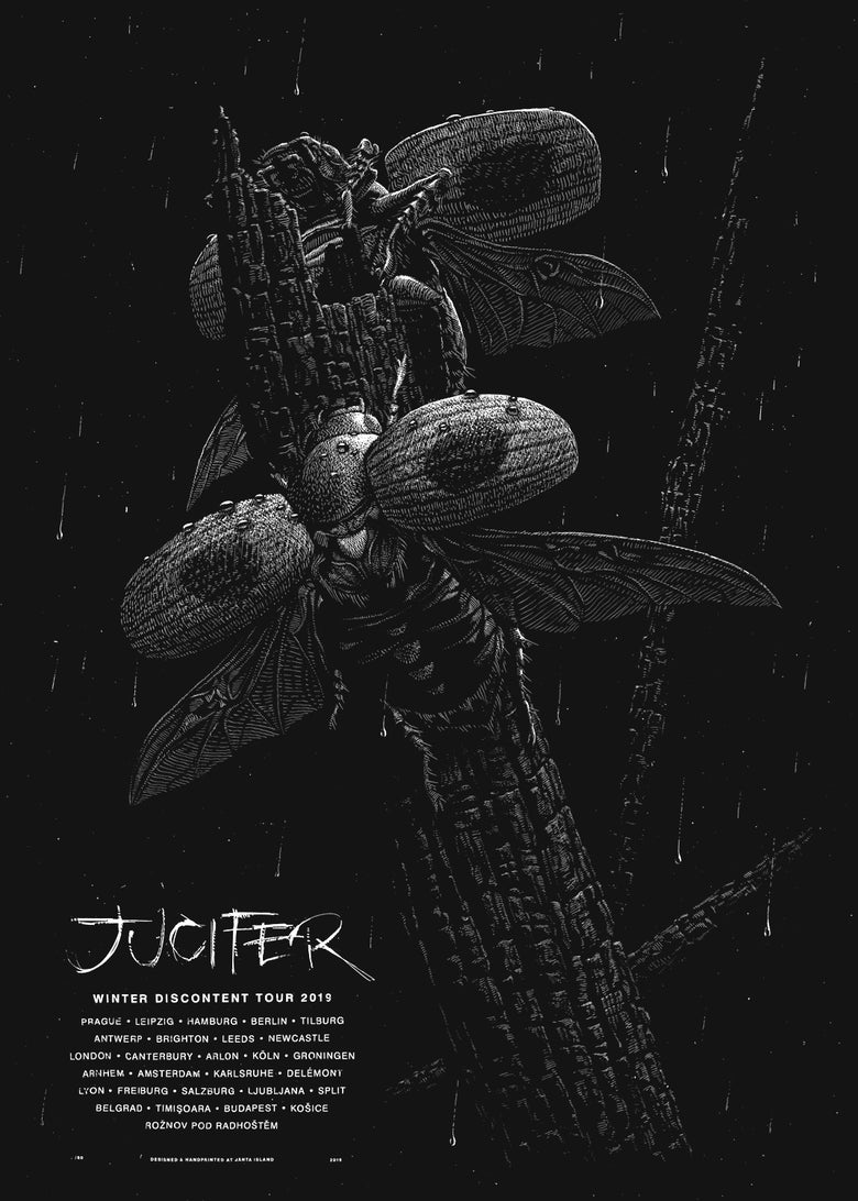 Image of »JUCIFER« Gig Poster
