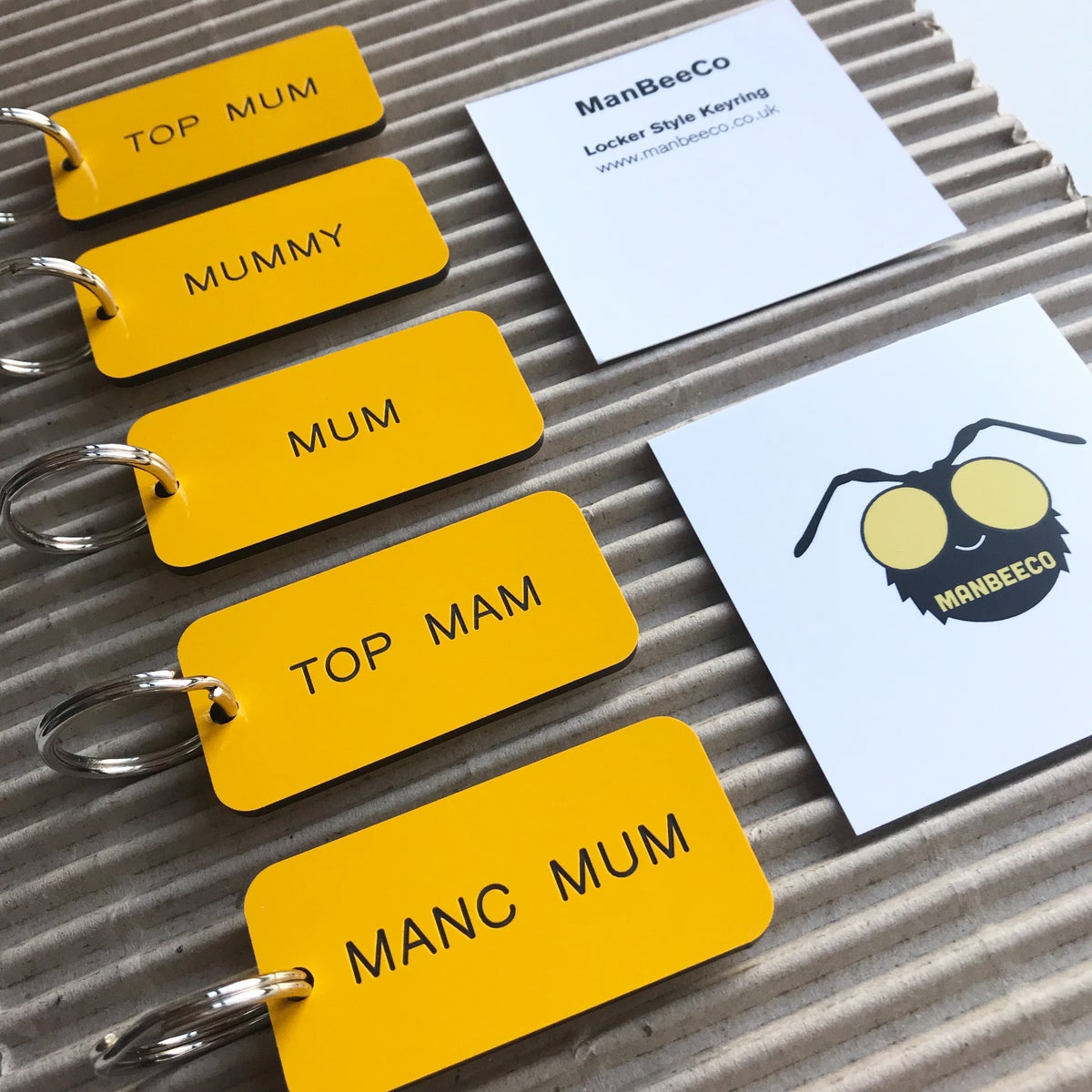 Image of MUM LOCKER KEYRING IN YELLOW + BLACK - MOTHER'S DAY SPECIAL EDITION