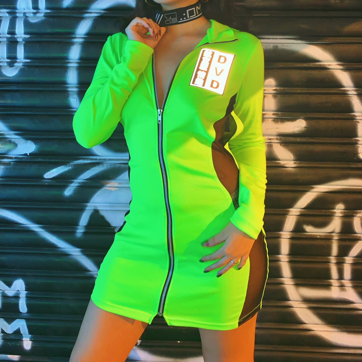 Image of A.V.P' 2way cyber dress