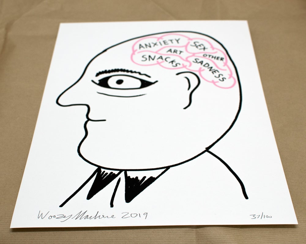 Image of THE BRAIN - LIMITED EDITION SCREENPRINT