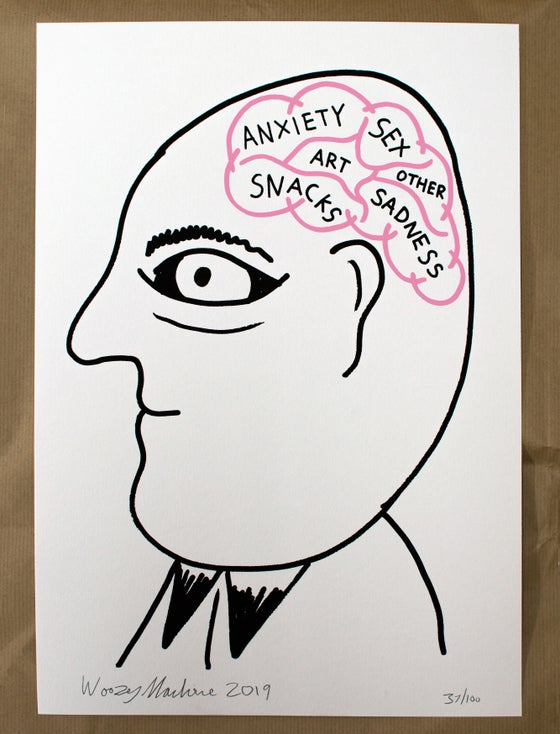 Image of The Brain - Screenprint