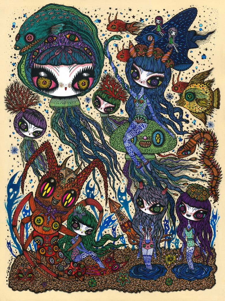 Image of Jelly fish song, new print, beautiful edition