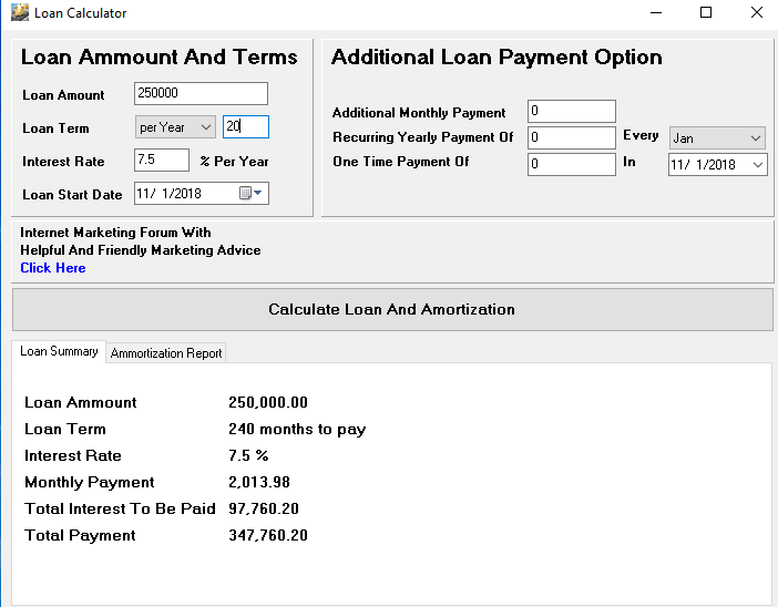 A J  Hakimi QR Code Generator & Loan Calculator Software Bundle 2018