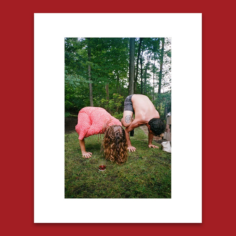 Image of 'ALEXANDRA & PATCH IN CROW POSE' 8X10 PRINT