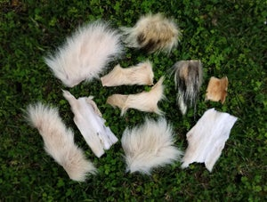 Image of Large Bag of Wolf Fur Scraps