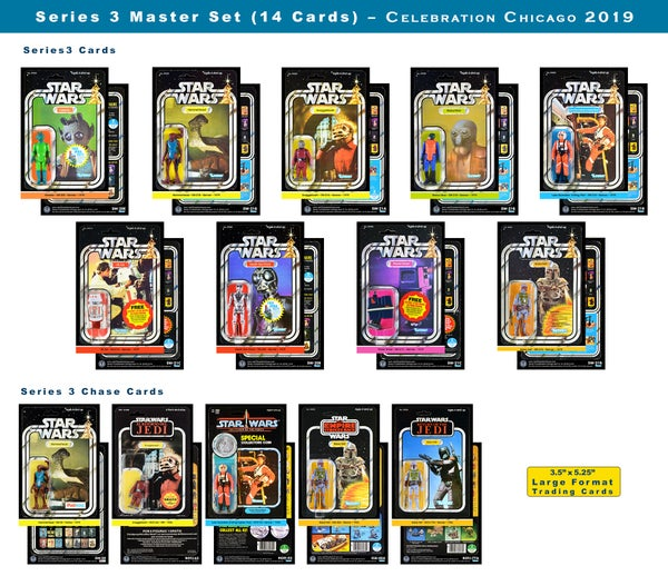 Image of Series 3 MASTER set Vintage Card Back Trading Cards (set of 14): Celebration Chicago 2019