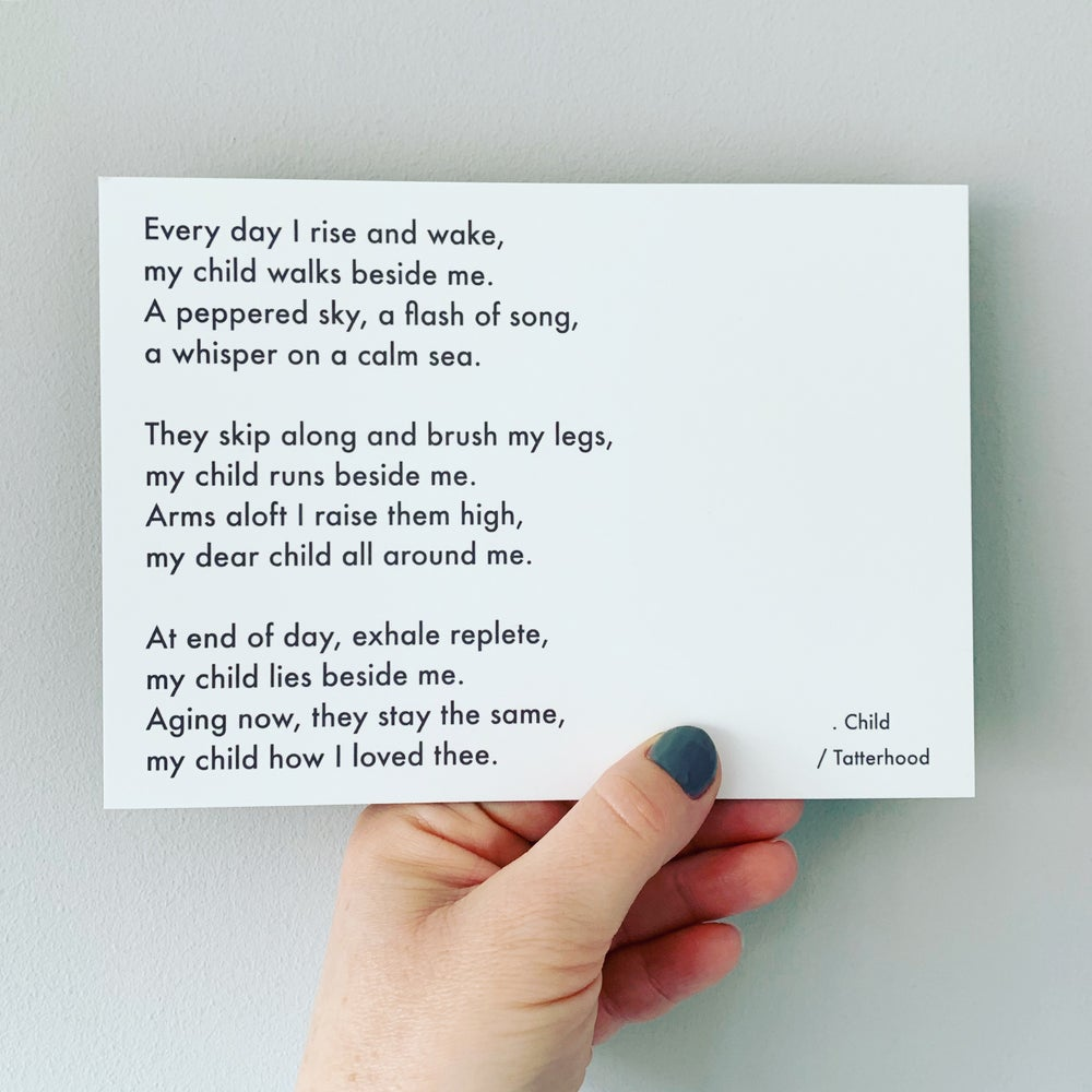 Image of Child - Poem Postcard (Medium - 7 x 5 size)