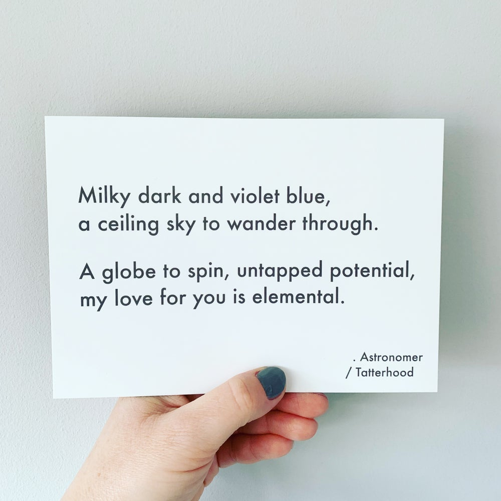 Image of Astronomer - 7 x 5 poem postcard
