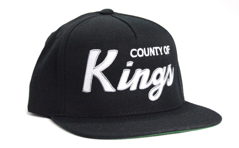 Image of COUNTY OF KINGS (BLACK/WHITE/GREY)- SNAPBACK