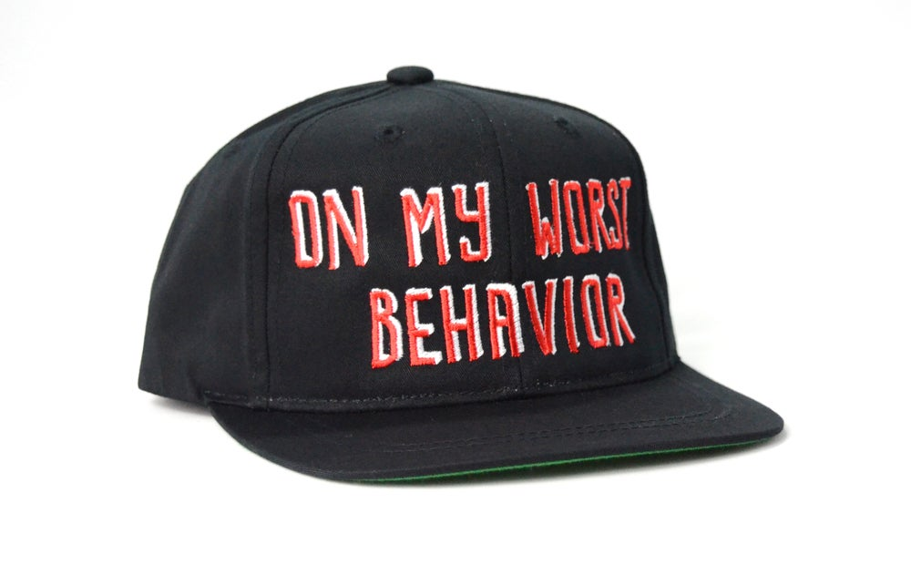 Image of ON MY WORST BEHAVIOR - KIDS SNAPBACK