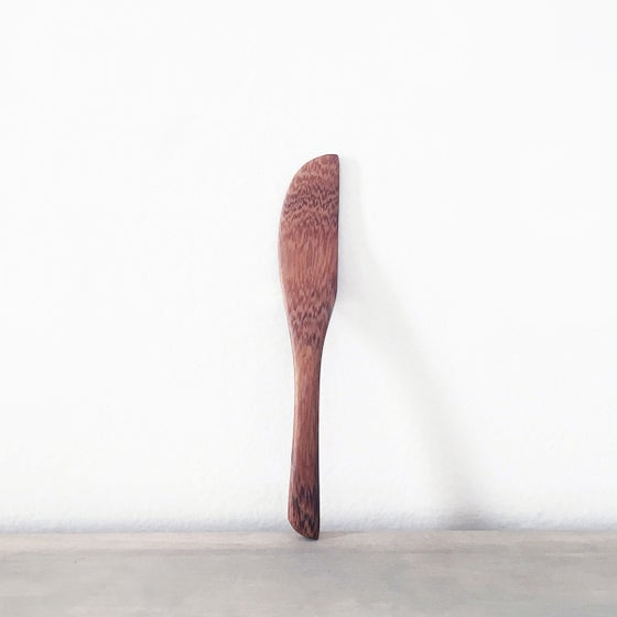 Image of Handmade Tropical Wood Cheese Knife