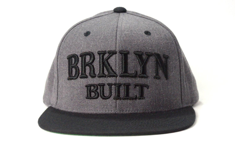 Image of BRKLYN BUILT (BLACK/DARK GREY) - SNAPBACK