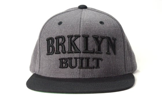 Image of BRKLYN BUILT (BLACK/DARK GREY) - SNAPBACK