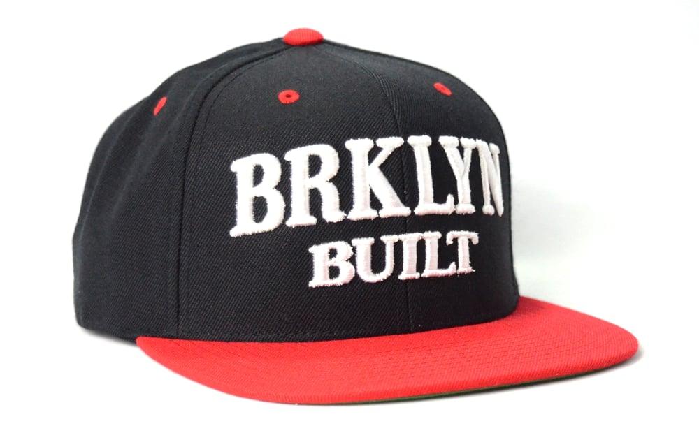 Image of BRKLYN BUILT (BLACK/WHITE/RED) - SNAPBACK