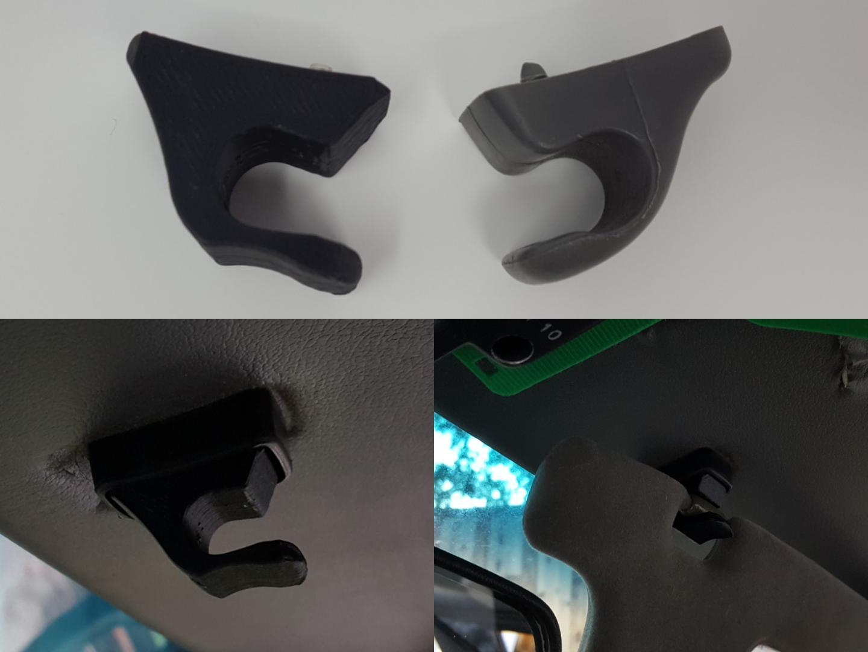Volvo 262C Bertone' Sun Visor Clip 3D Printed Reproduction!