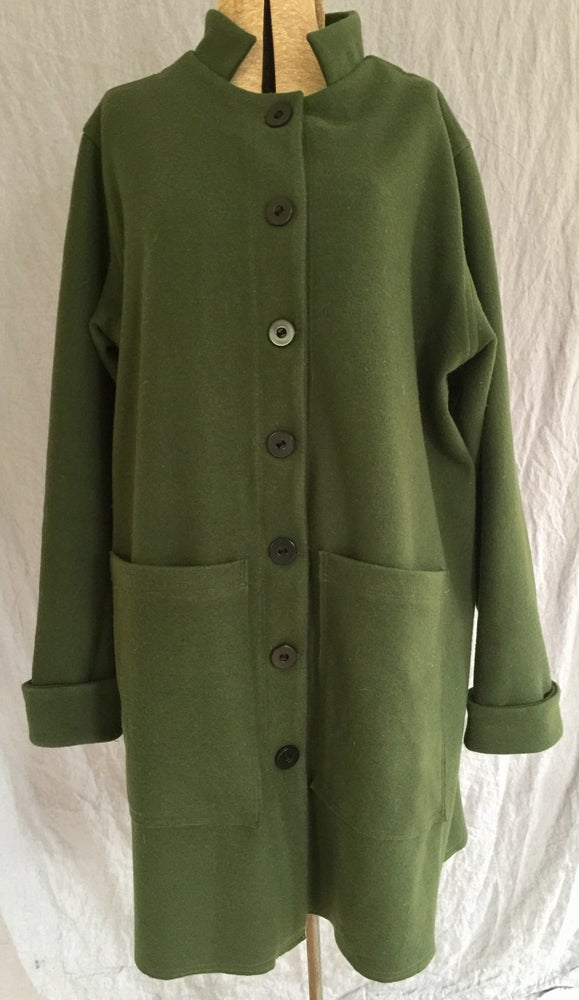 Image of wool long jacket