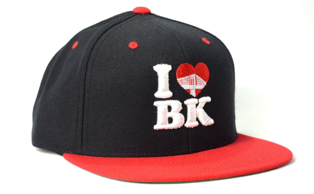 Image of I LOVE BK (BLACK/WHITE/RED) - SNAPBACK