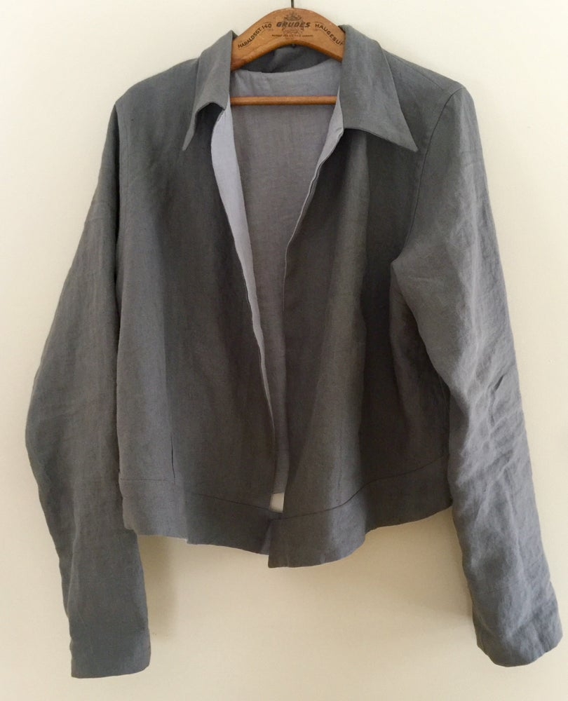 Image of cropped linen jacket