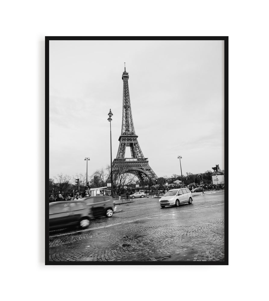 Image of Black and White Eiffel Tower