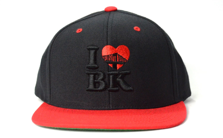 Image of I LOVE BK (BLACK/RED) - SNAPBACK