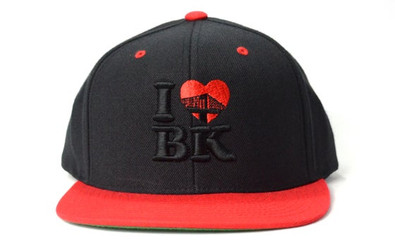 Image of I LOVE BK (BLACK/RED) - SNAPBACK