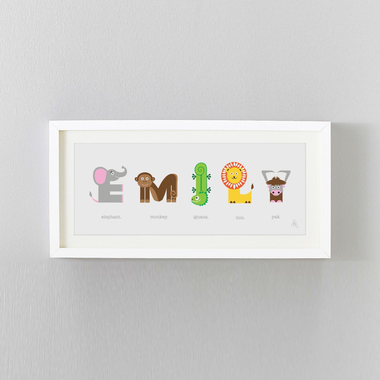 Image of Animal Name Print