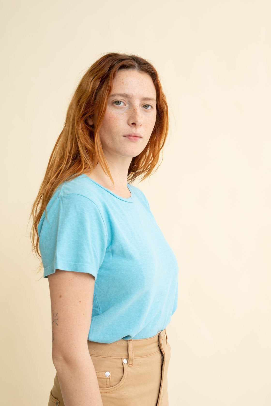Image of Jungmaven Lorel Tee - Pool Blue