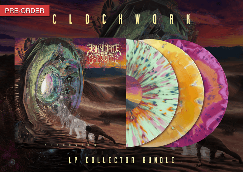 Image of INANIMATE EXISTENCE - Clockwork - LP Collector Bundle