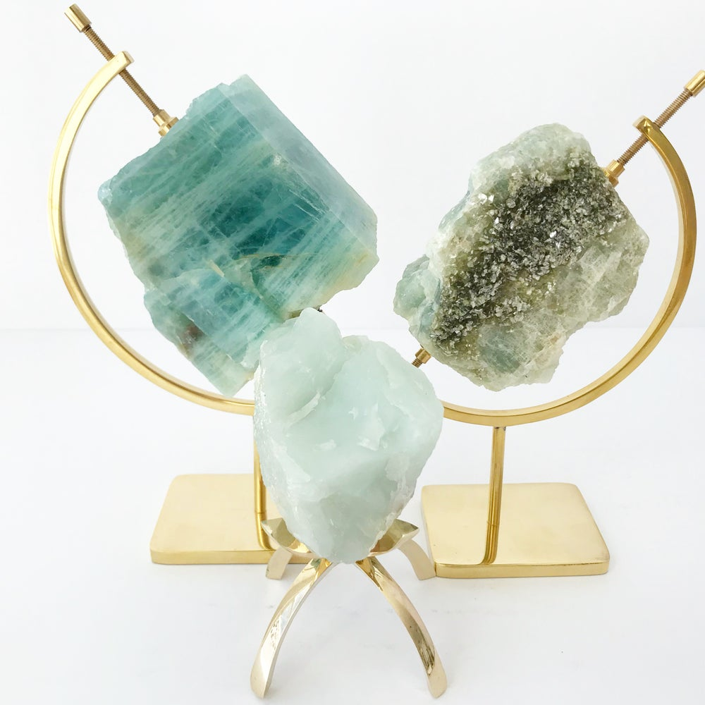 Image of no.06 Aquamarine Collection Brass Pairing